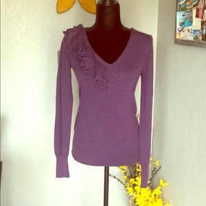 The Limited Plum Sweater